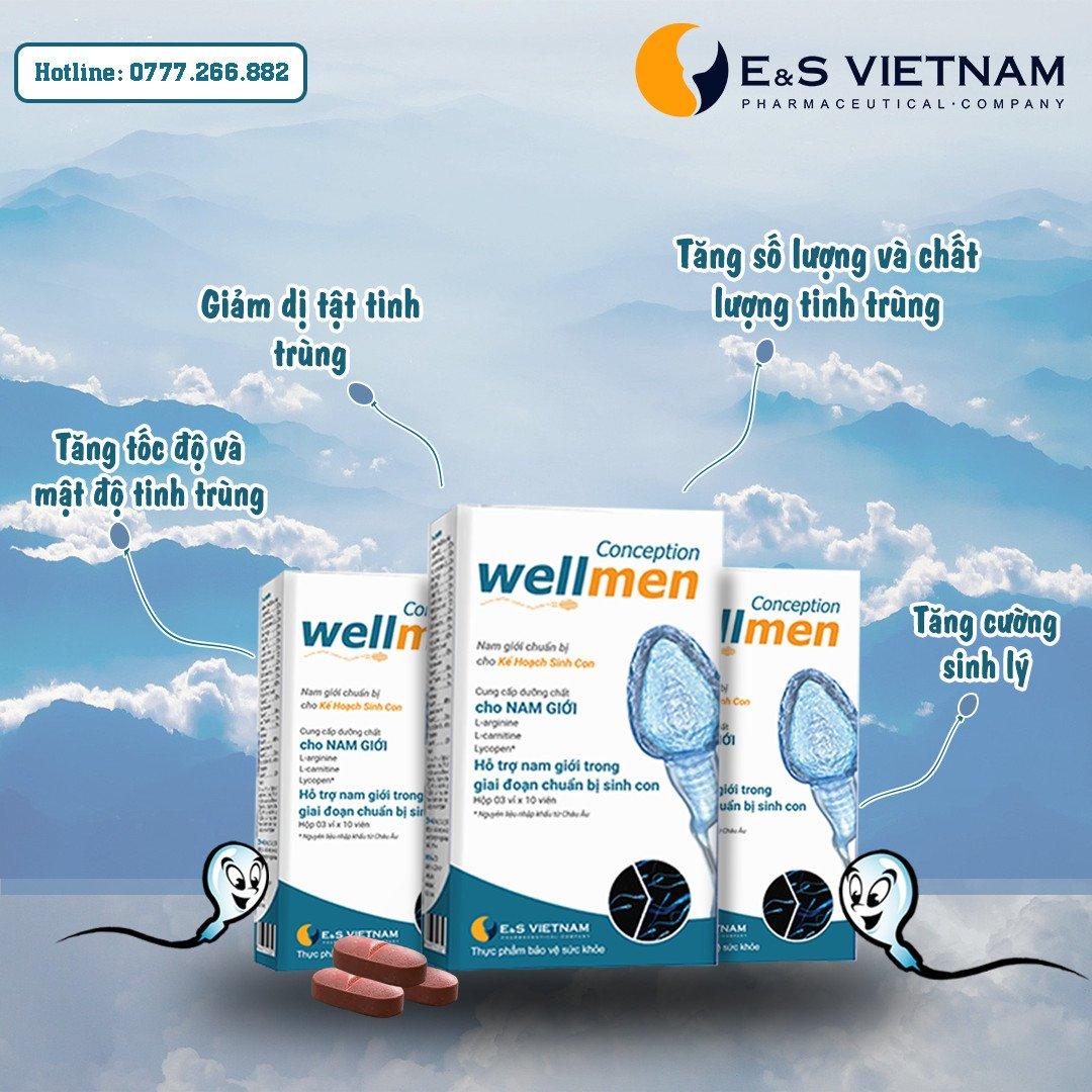 Wellmen Bổ tinh trùng là phương pháp bổ sung hữu hiệu để cải thiện tinh trùng yếu