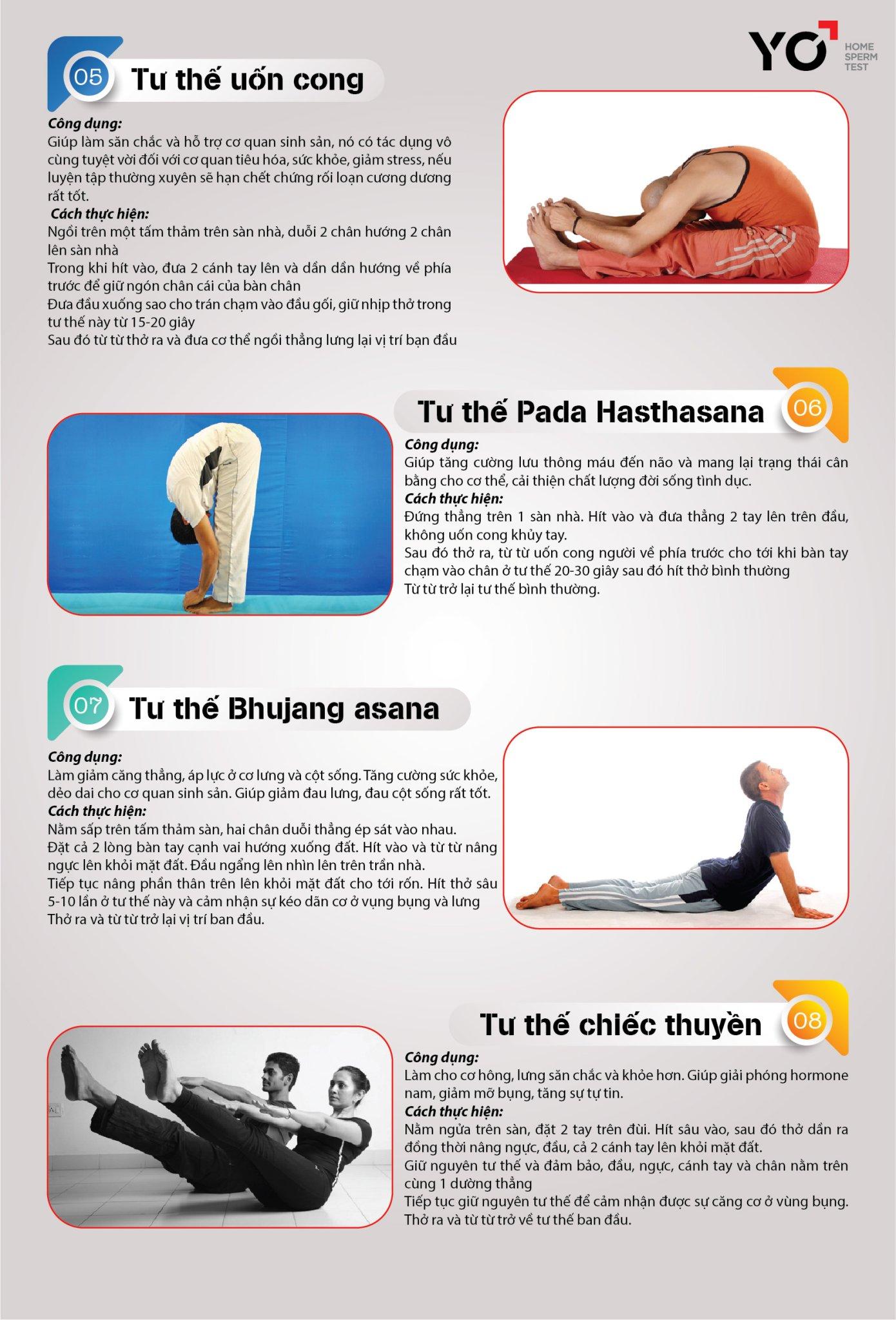 Bệnh nhân xoắn tinh hoàn nên áp dụng các động tác Yoga nhẹ nhàng