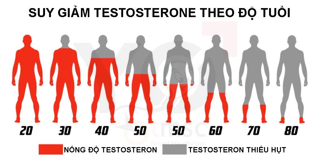 suy giảm testosterone cũng khiến tinh trùng ít