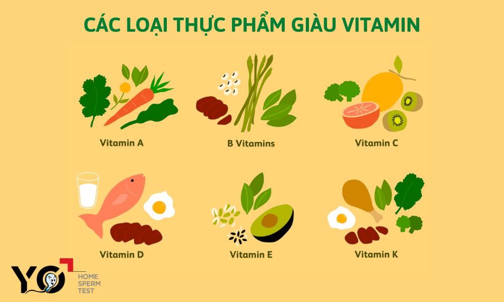 """Bổ sung đầy đủ các nhóm Vitamin để tinh hoàn """"khỏe"""" hơn"""