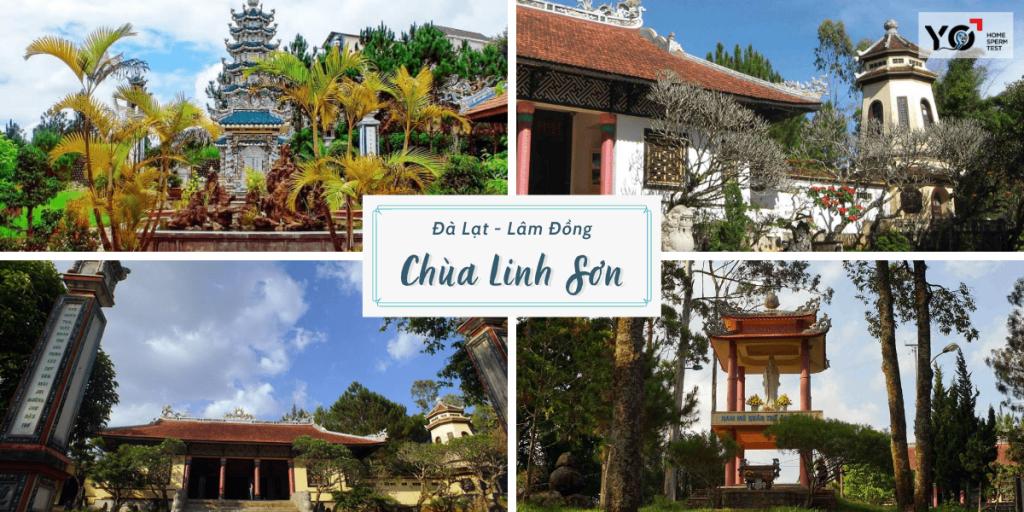 Chùa Linh Sơn mang lối kiến trúc của Phật Giáo