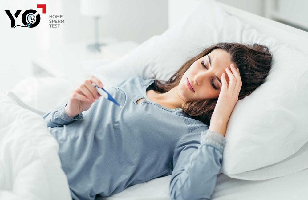 Nhiệt độ cơ thể nữ giới sẽ tăng nhẹ khi tới ngày rụng trứng
